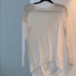 Off White Cotton Michael Kors Sweater
